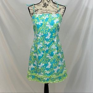 Lilly Pulitzer Butterly Green Mini Dress Size 4